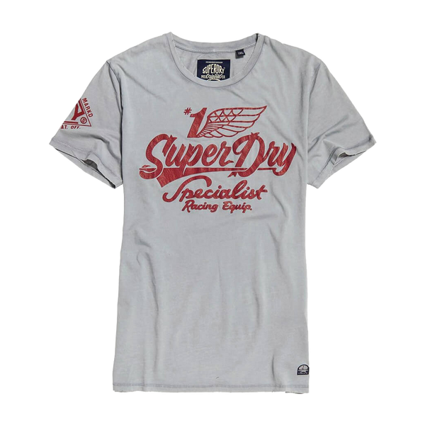 Superdry Men's Premium Equipment Tee Dull Blue