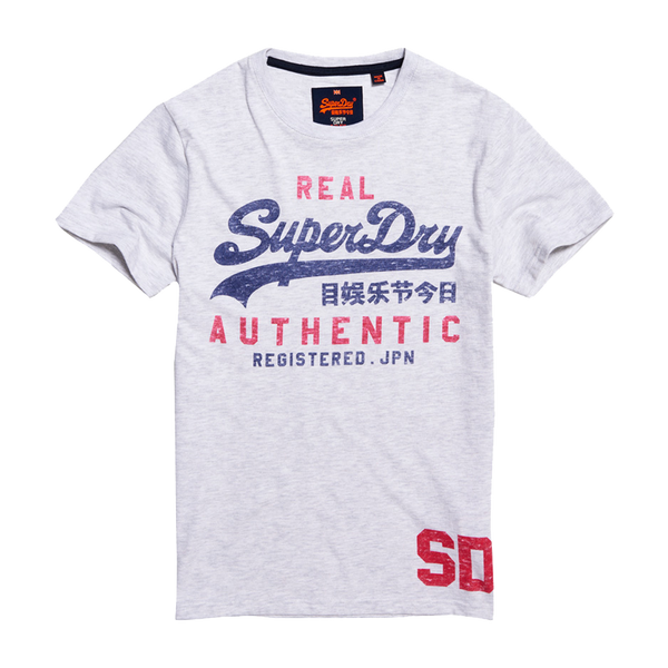 Superdry Men's Vintage Authentic Duo Tee Ice Marl