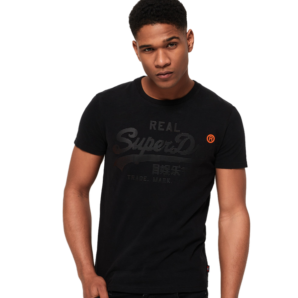 Superdry Men's Vintage Logo 1st Tee Black