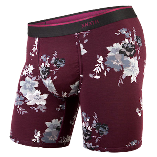 BN3TH Men's Classic Boxer Brief Arrangement Wine