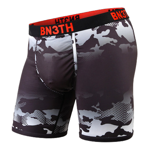 BN3TH Men's Pro XT2 Boxer Brief Camo Fade Black