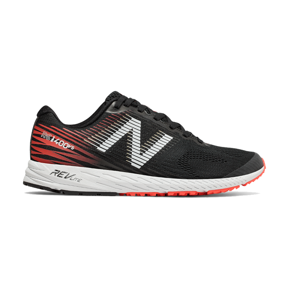 New Balance Men's 1400 V5 D Width Black With Flame
