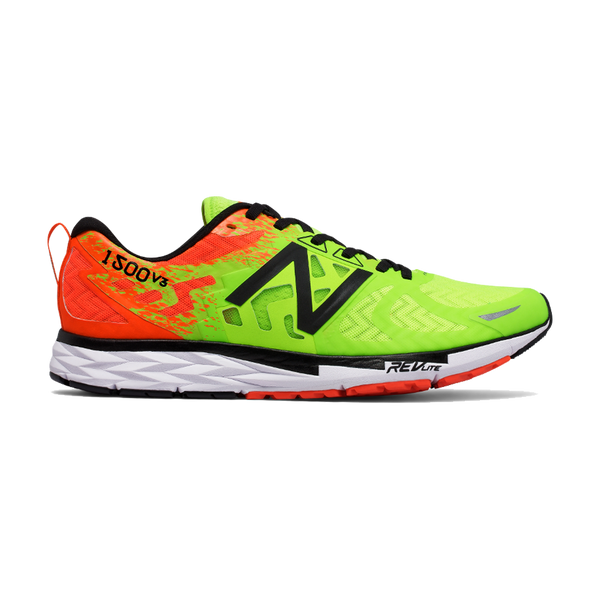 New Balance Men's 1500 V3 2E Width Lime/Alpha Orange