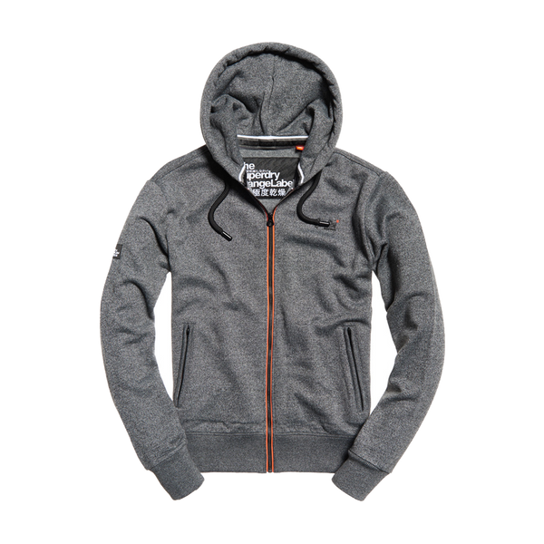 Superdry Men's Orange Label Urban Zip Hoodie Charcoal