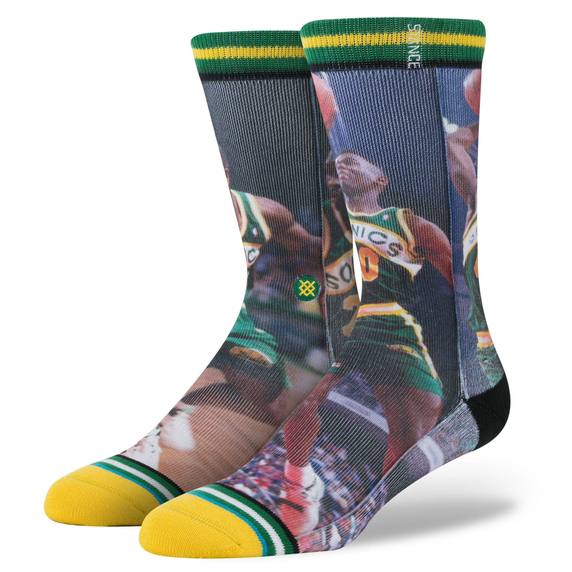 Instance Men's NBA Payton/Kemp Green