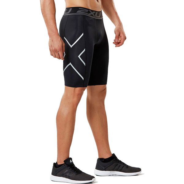 2XU Men's Accelerate Compression Short Black/Silver