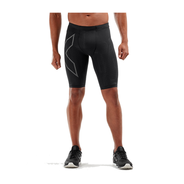 2XU Men's MCS Run Compression Short Black/Black Reflective