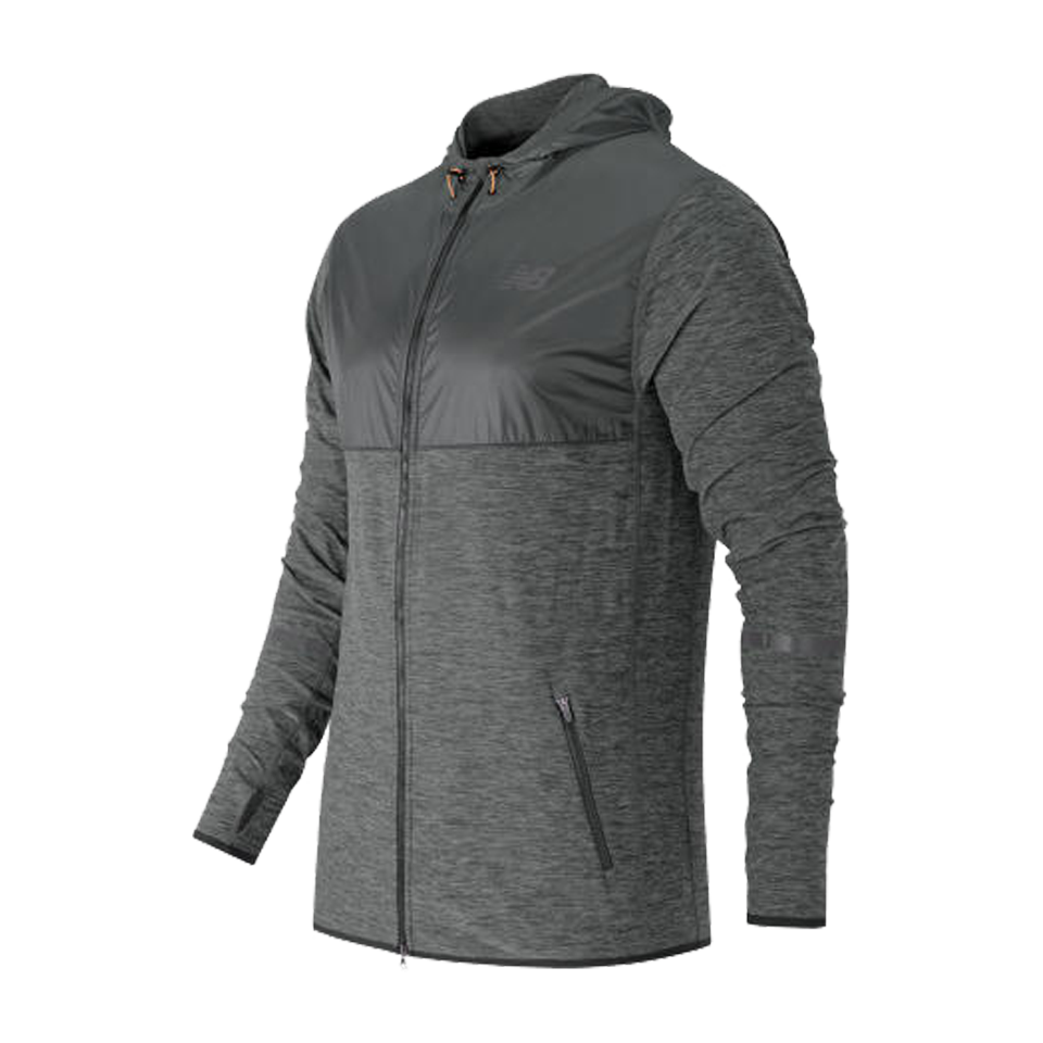 New Balance Men's N Transit Hoodie Heather Grey