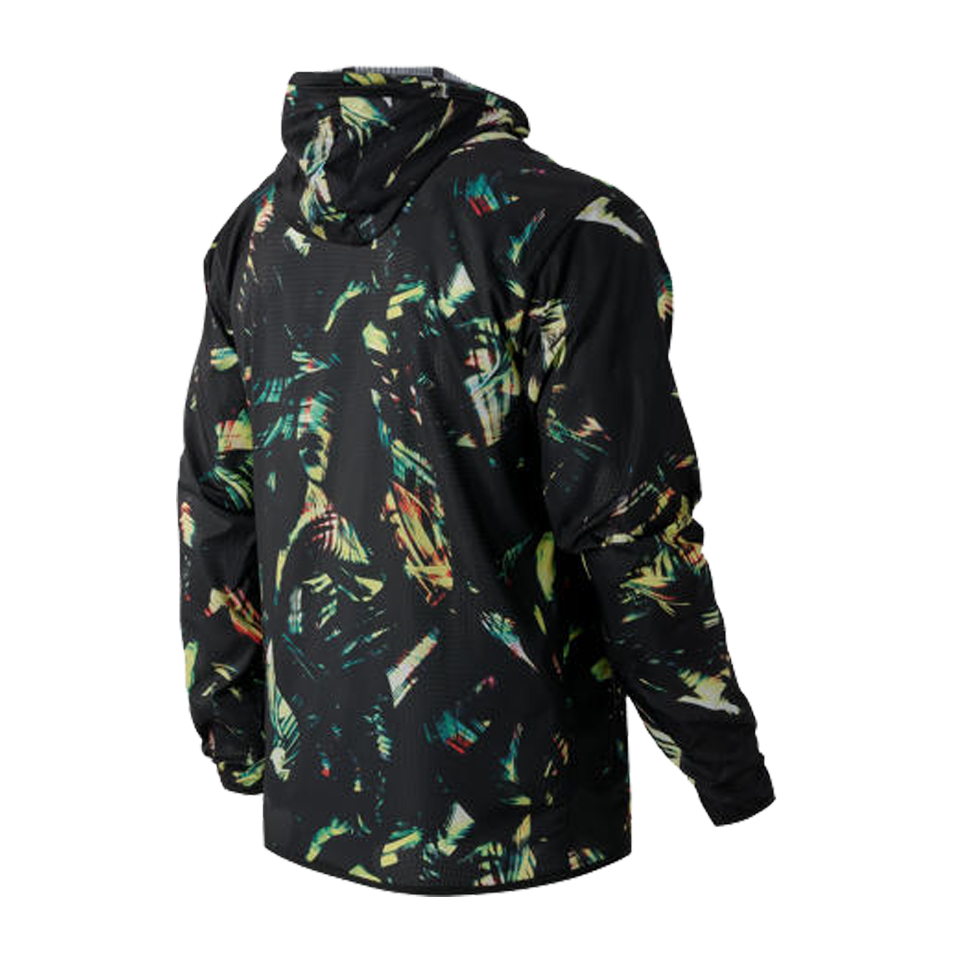 New Balance Men's Windcheater Hybrid Jacket Palm Print
