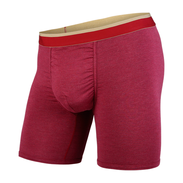 BN3TH Men's Classic Boxer Brief Crimson Heather/Chino