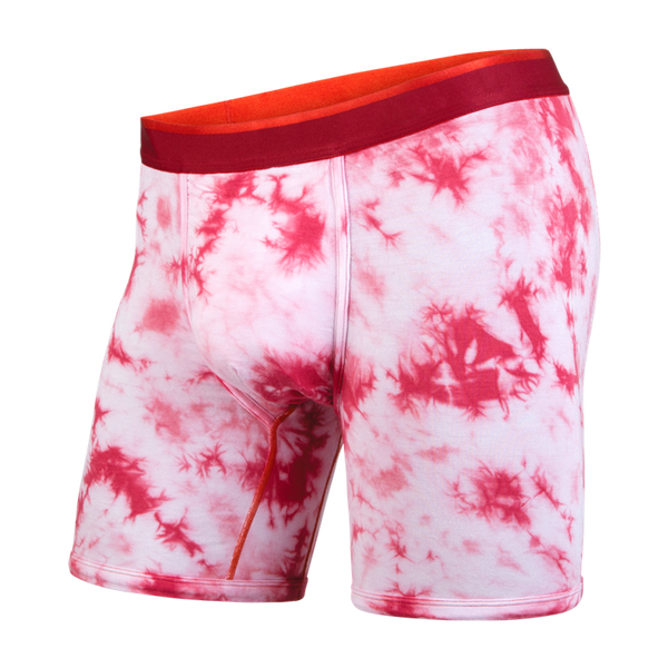 BN3TH Men's Classic Boxer Brief Shibori Crimson