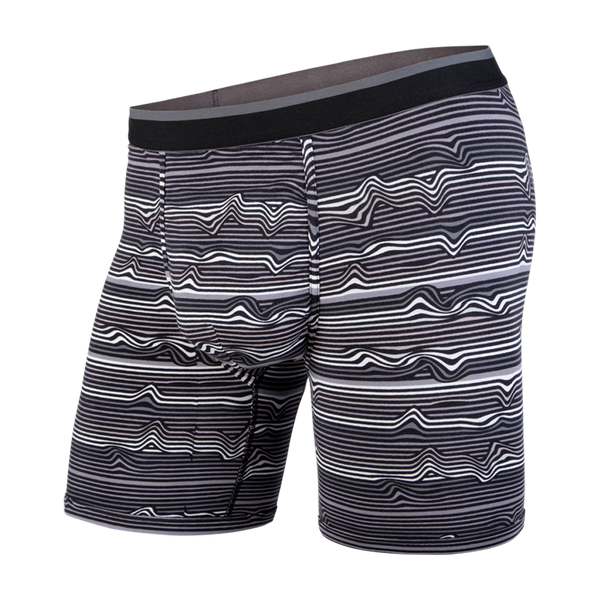 BN3TH Men's Classic Boxer Brief Warp Stripe/Black