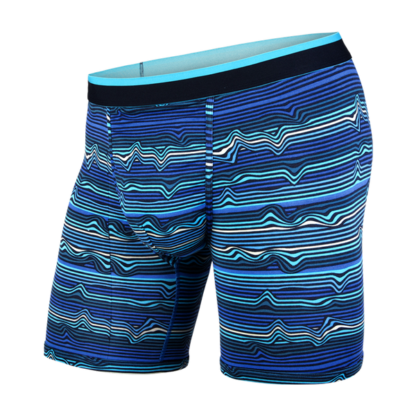 BN3TH Men's Classic Boxer Brief Warp Stripe/Blue