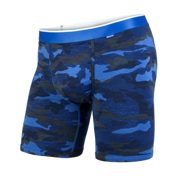 BN3TH Men's Classic Boxer Brief Heather Camo Blue