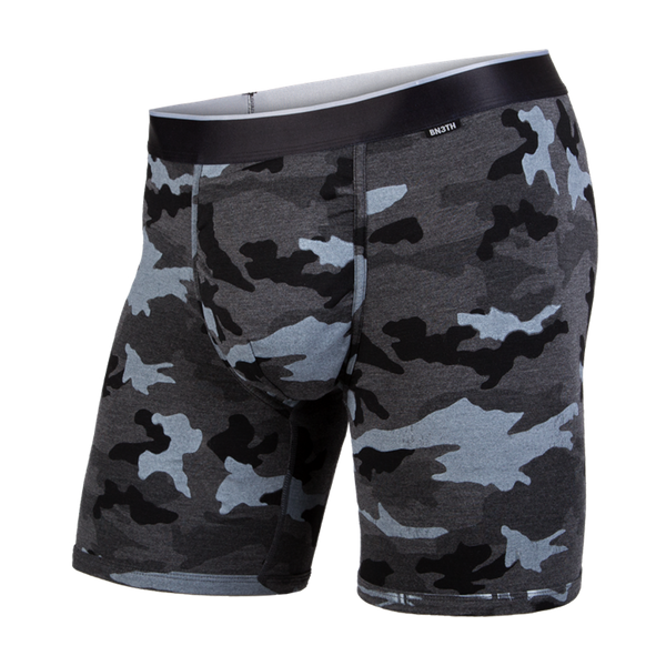 BN3TH Men's Classic Boxer Brief Heather Camo Black