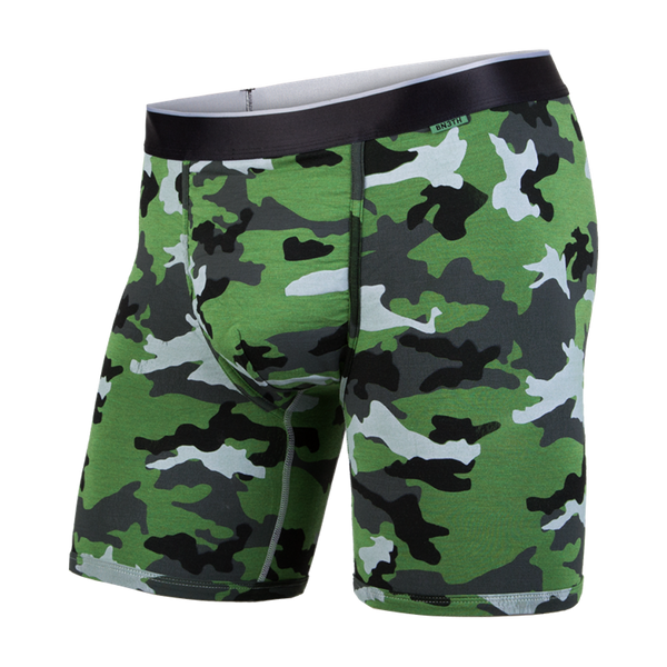 BN3TH Men's Classic Boxer Brief Heather Camo Green