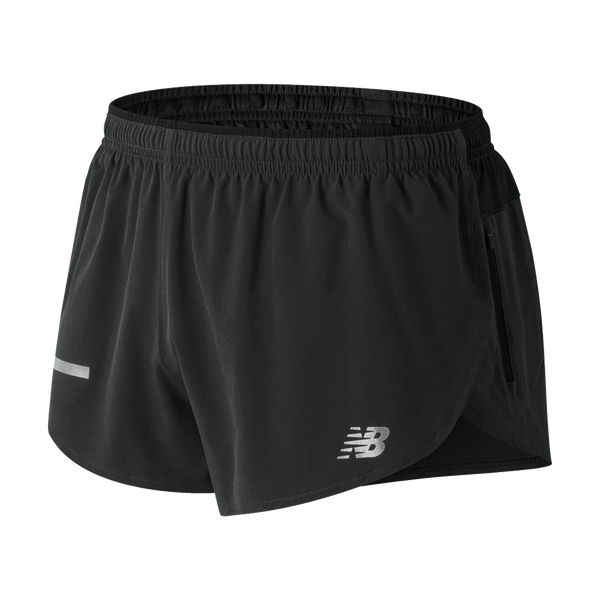 "New Balance Men's Impact 3"" Split Short Black"