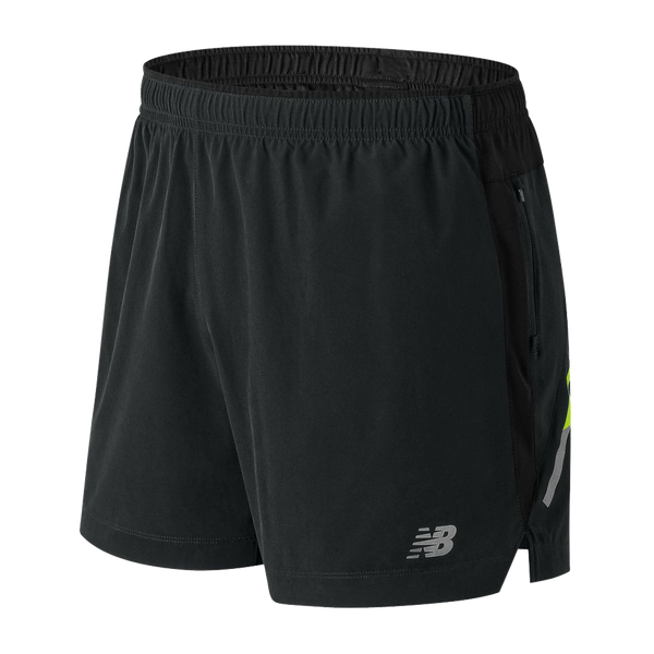 "New Balance Men's Impact Short 5"" Black Multi"