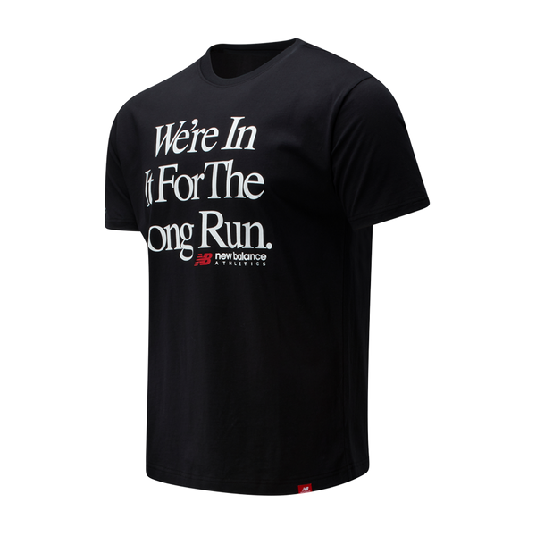 New Balance Men's Long Run Tee Black