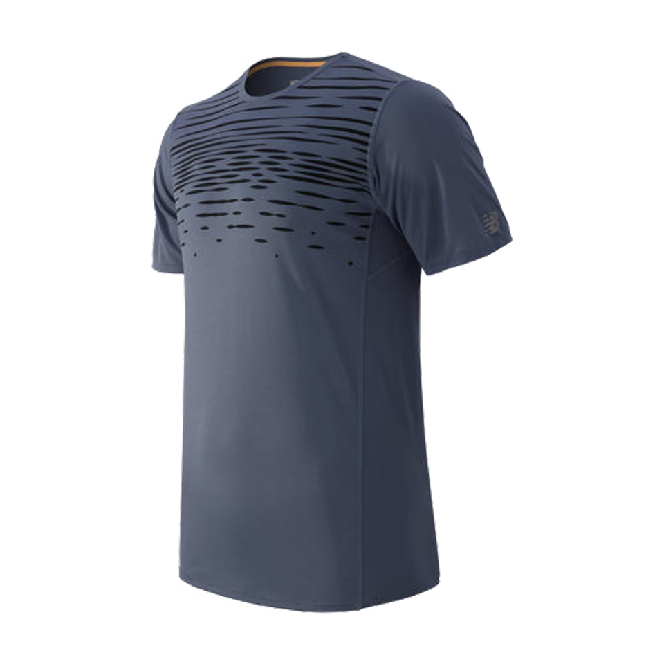 New Balance Men's Accelerate Short Sleeve Crater Grey