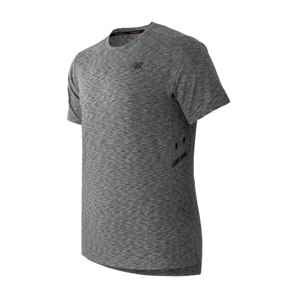 New Balance Men's Max Speed Short Sleeve Heather Grey