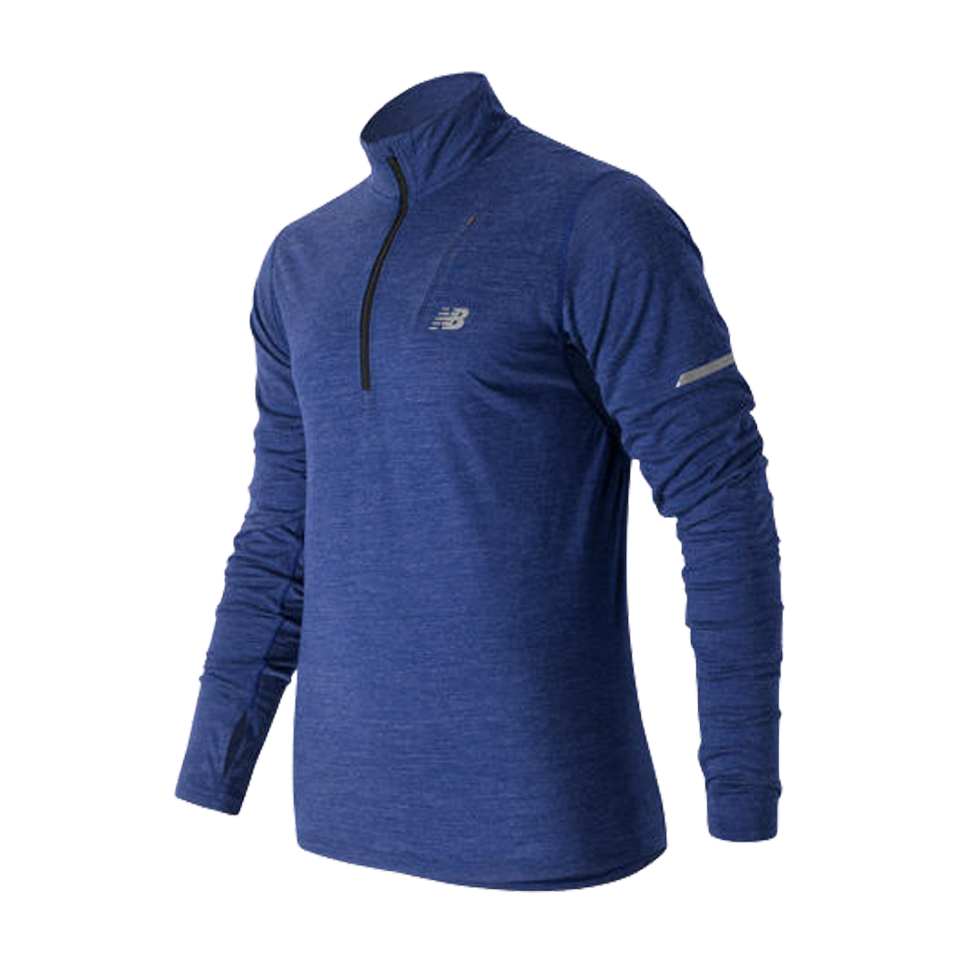 New Balance Men's Merino Quarter Zip Marine Blue