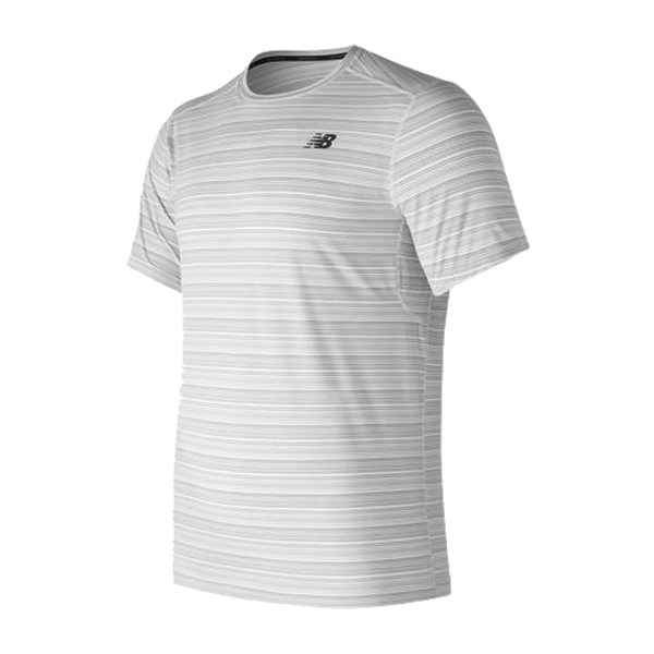 New Balance Men's Fantom Force Short Sleeve Tee White
