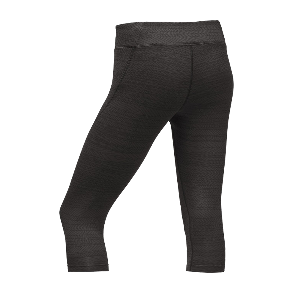 The North Face Women's Pulse Capri Tight Black Tribal Tracks Print