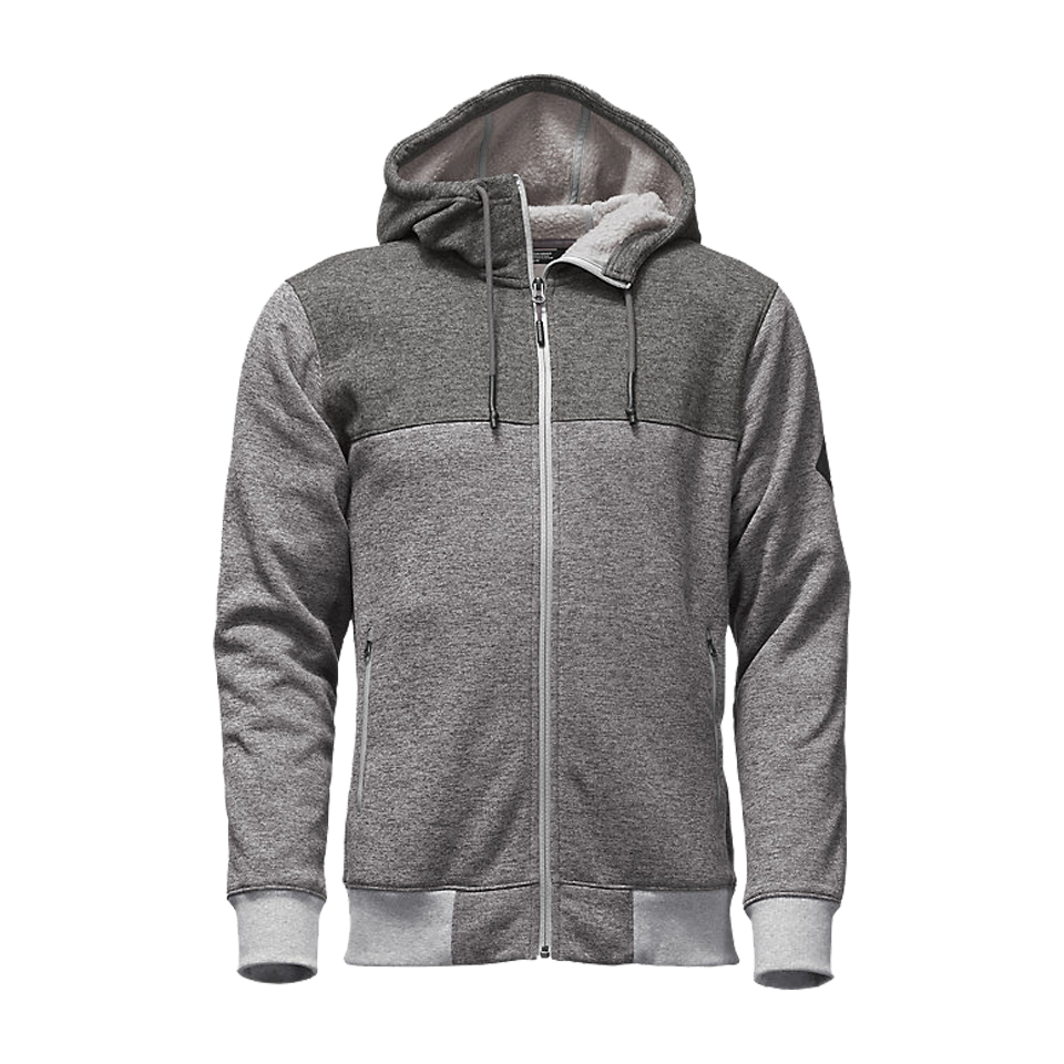 The North Face Men's Tech Sherpa Full-Zip Medium Grey Heather