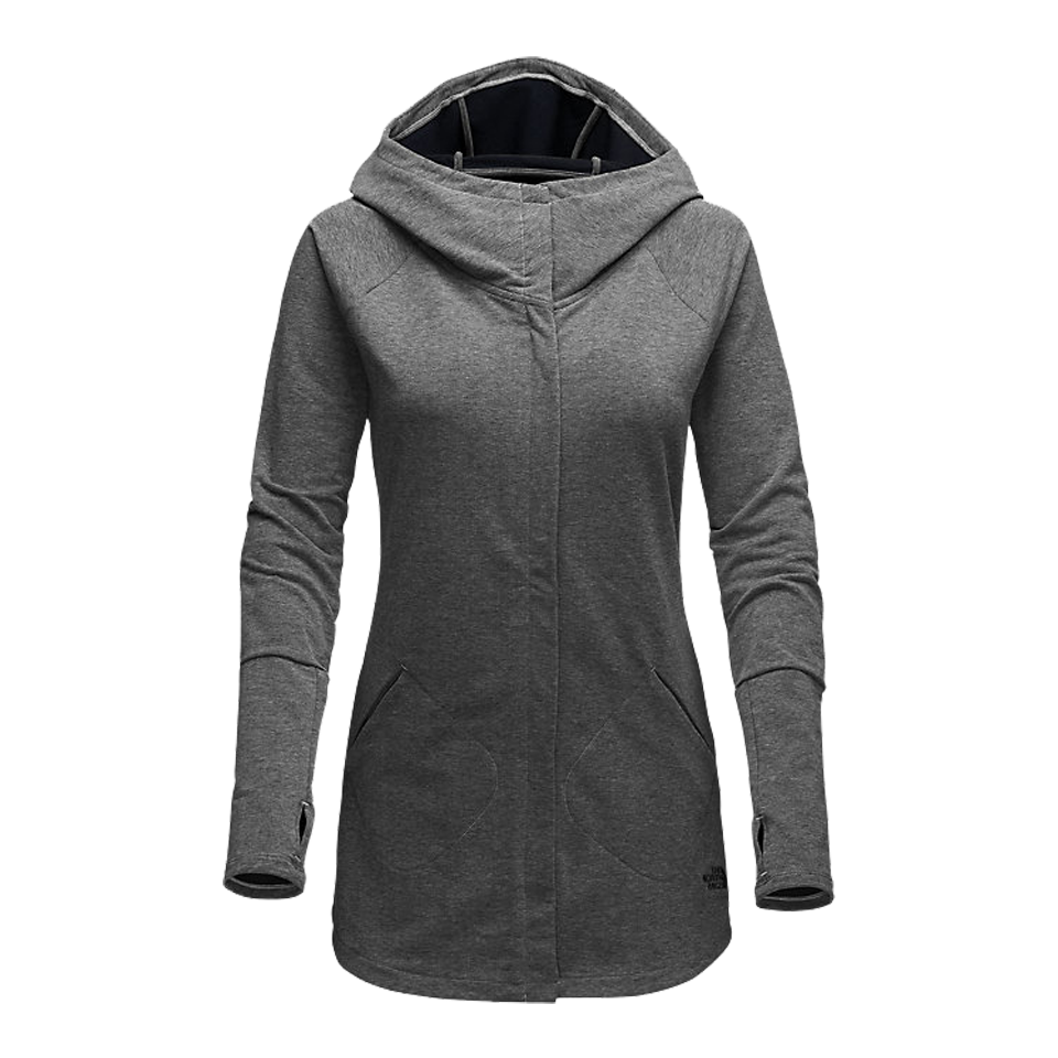 The North Face Women's Wrap-Ture Full Zip Jacket Grey Heather