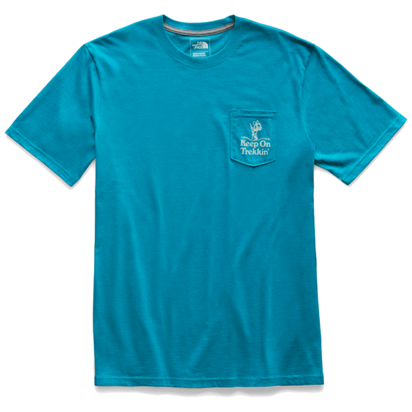 The North Face Men's Camping Notes Pocket Tee Crystal Teal
