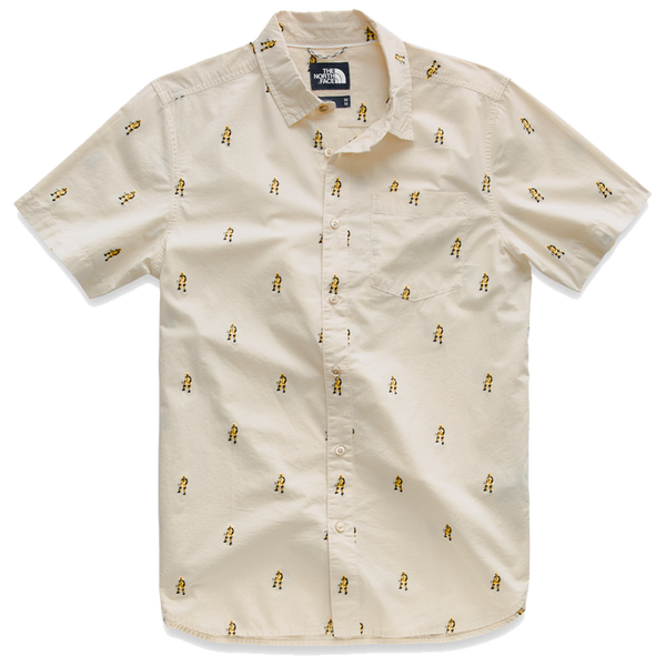 The North Face Men's S/S Baytrail Jacquard Shirt Vintage White