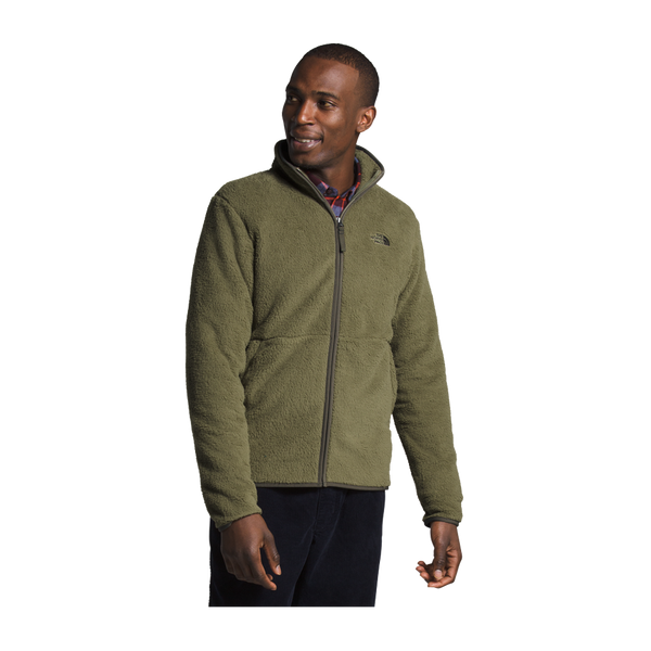 The North Face Men's Dunraven Sherpa Full Zip Burnt Olive Green
