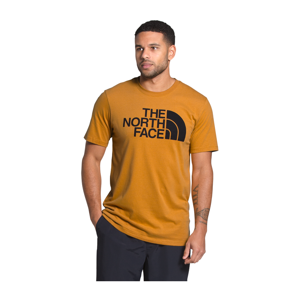 The North Face Men's Short Sleeve Half Dome Tee Citrine Yellow