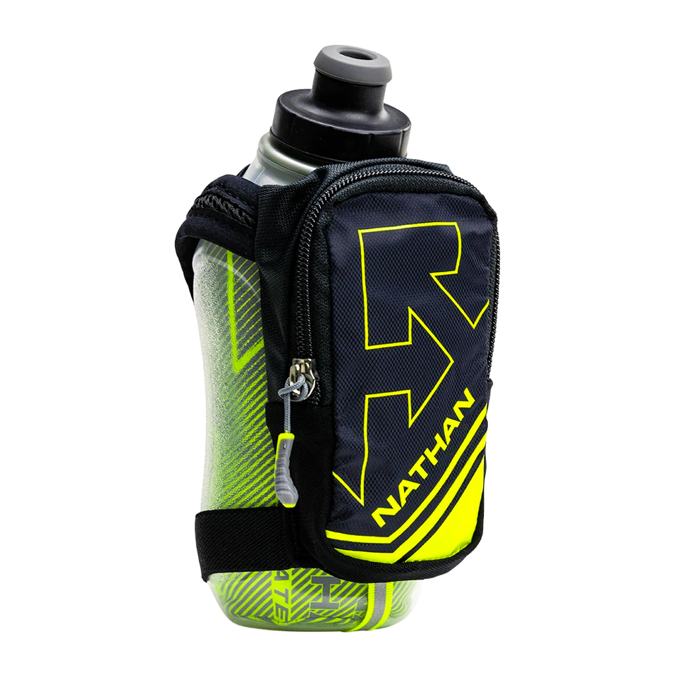 Nathan SpeedShot Plus Insulated 12 oz Black/Safety Yellow