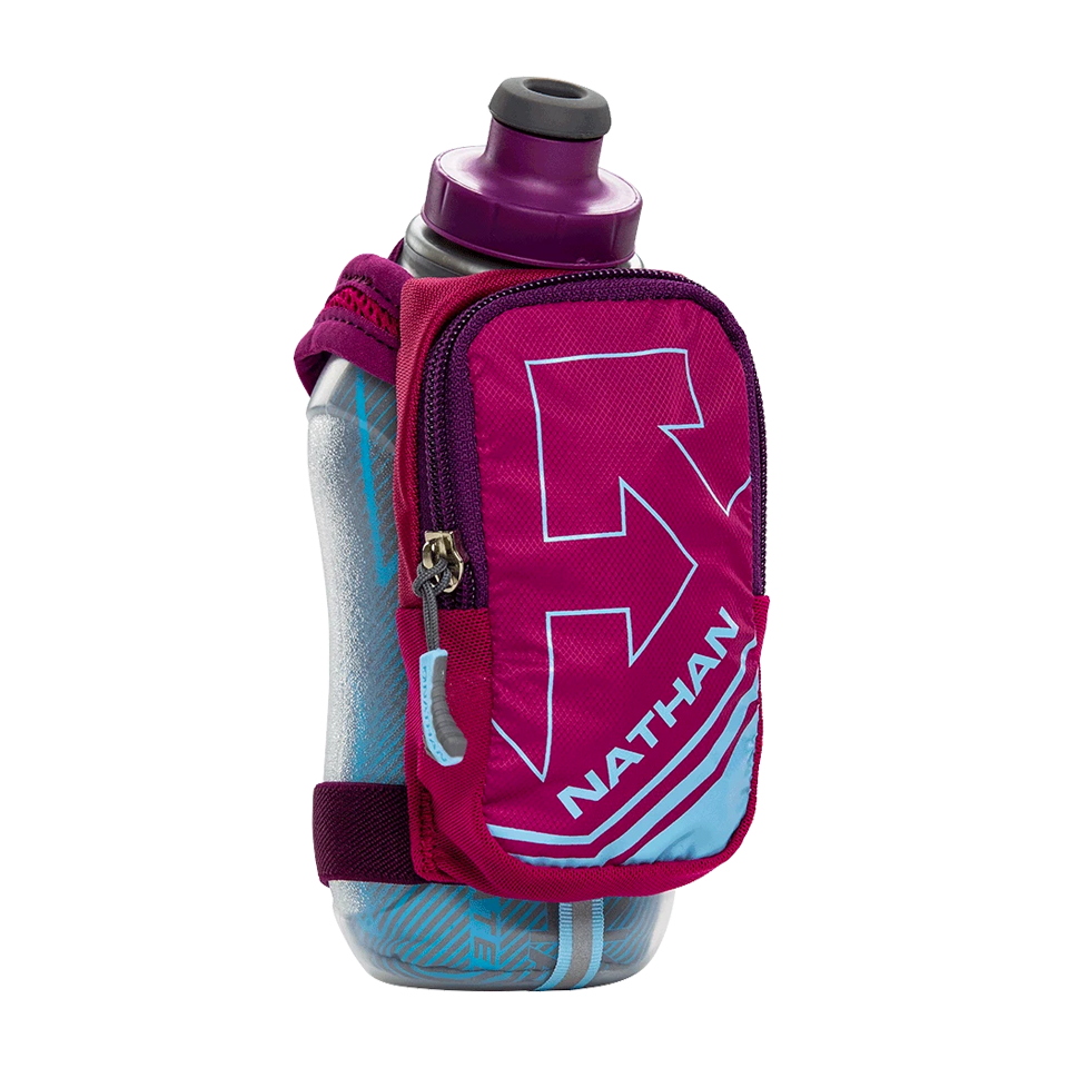 Nathan SpeedShot Plus Insulated 12 oz Sangria/Magenta Rose