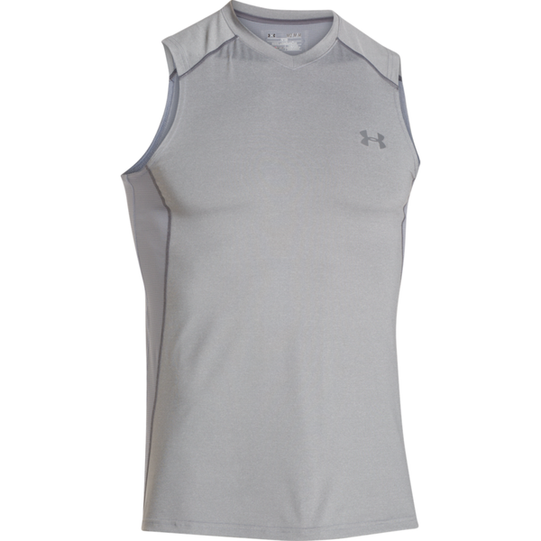 Under Armour Men's Raid Sleeveless Tank True Grey Heather