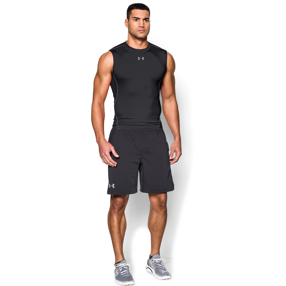 Under Armour Men's HeatGear Sleeveless Compression Tee Black