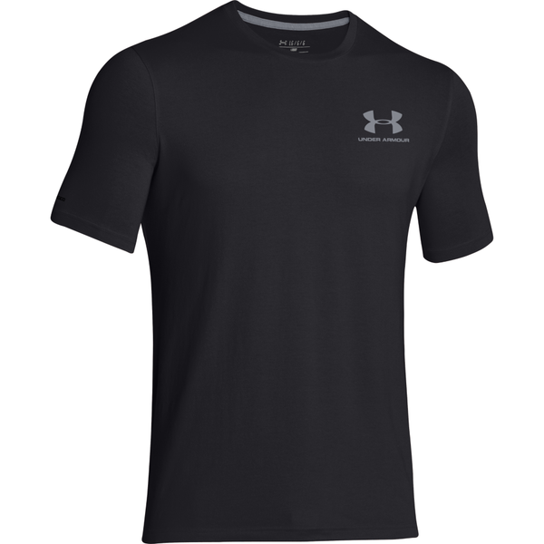 Under Armour Men's Charged Cotton Lockup Tee Black