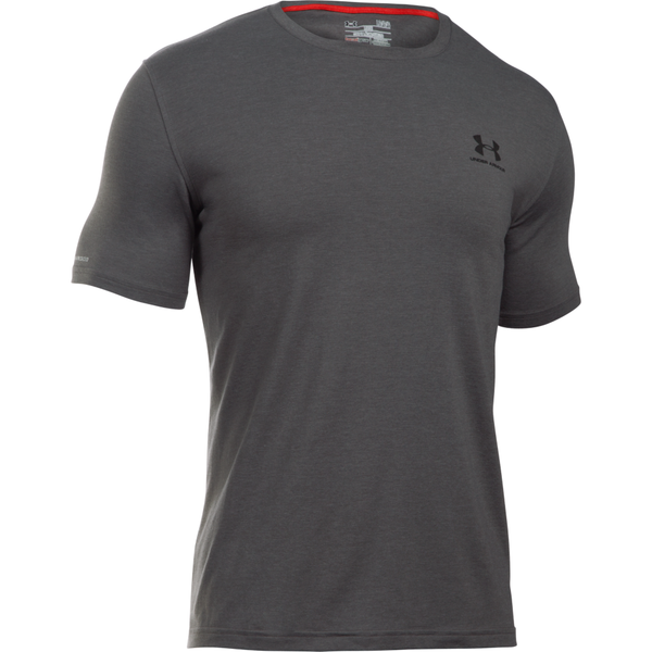 Under Armour Men's Charged Cotton Lockup Tee Carbon Heather