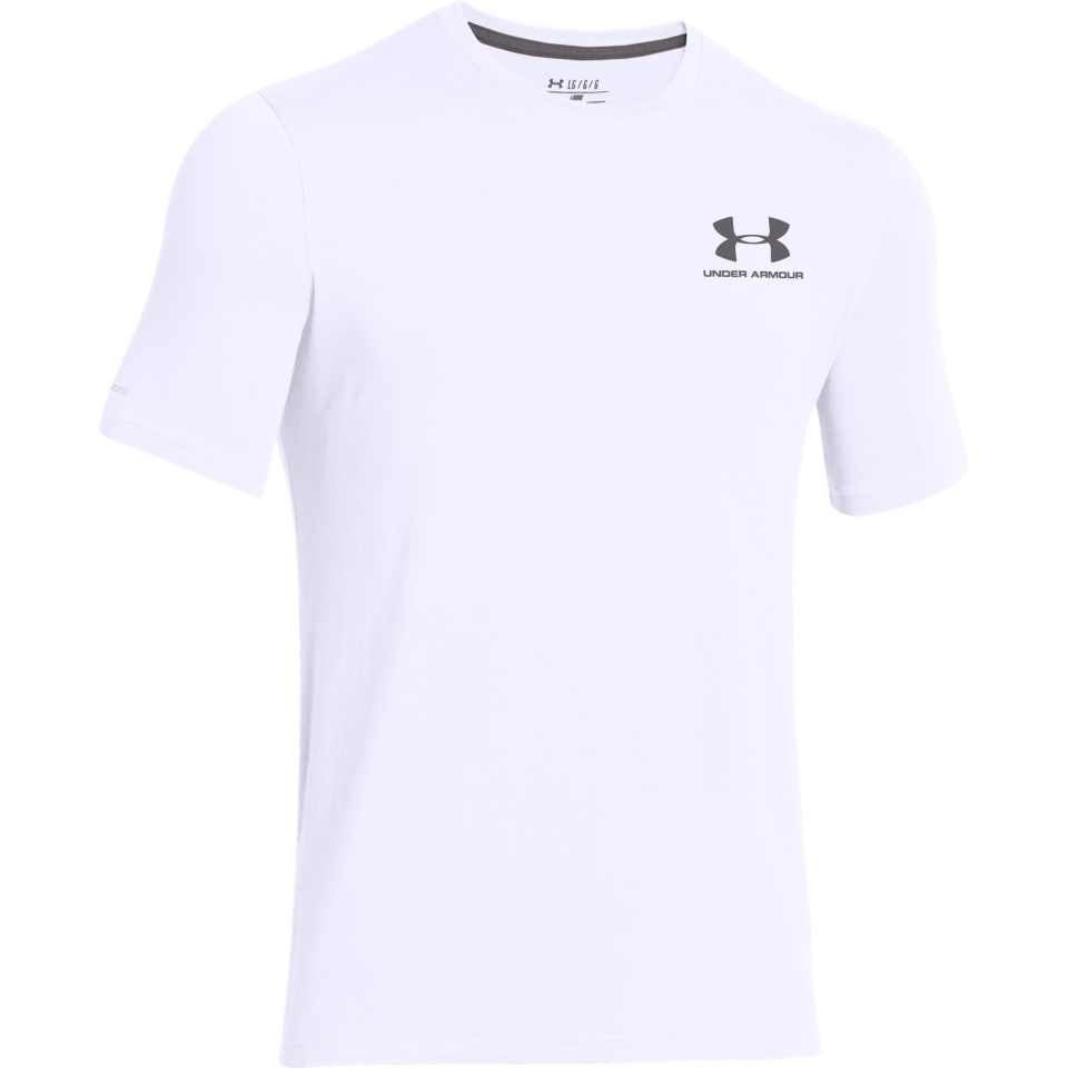 Under Armour Men's Charged Cotton Lockup Tee White