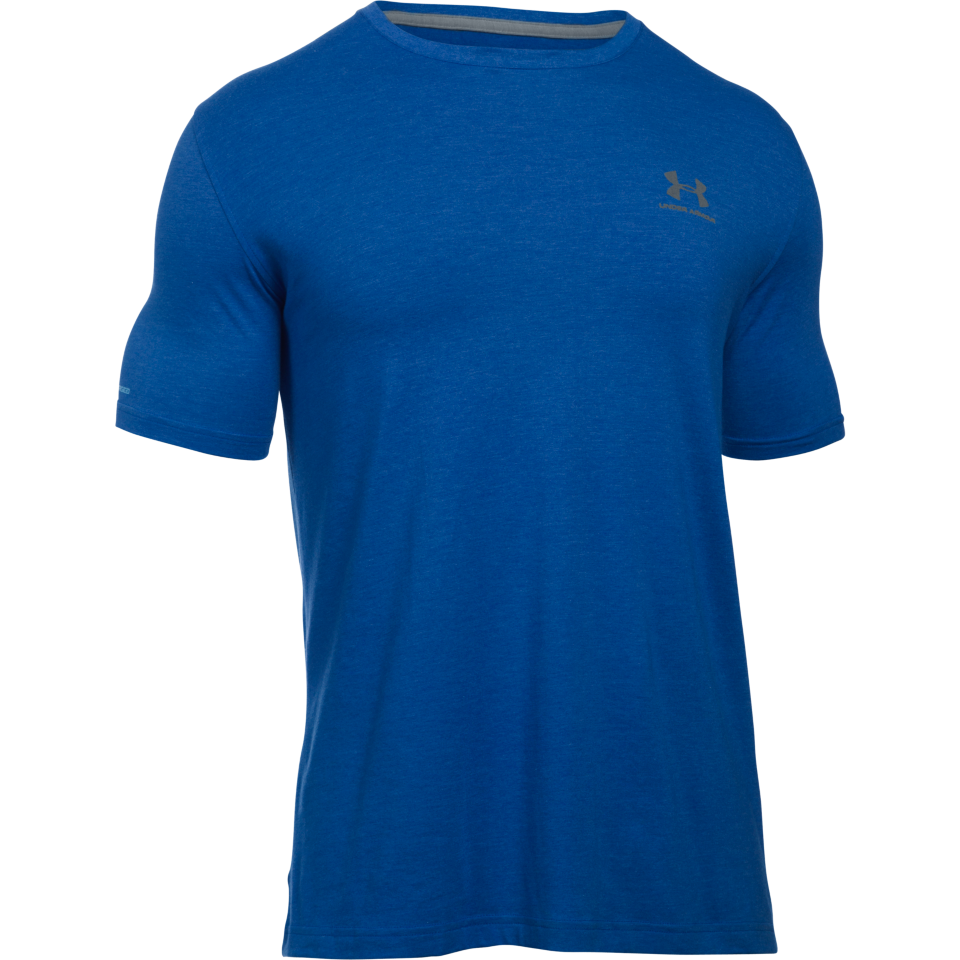 Under Armour Men's Charged Cotton Lockup Tee Royal