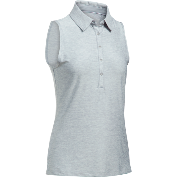 Under Armour Women's Gold Zinger Sleeveless Polo Overcast Grey