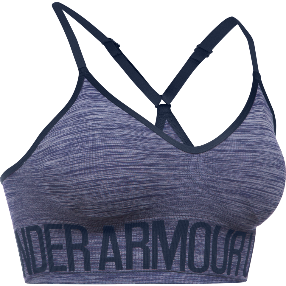 Under Armour Women's Seamless Streaky Heather Bra Midnight