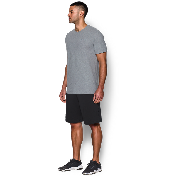Under Armour Men's Charged Cotton Short Sleeve Tee True Grey Heather