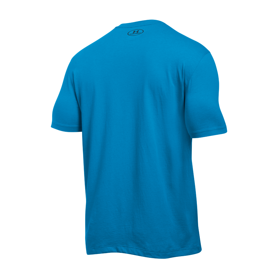 Under Armour Men's Charged Cotton Short Sleeve Tee Brilliant Blue