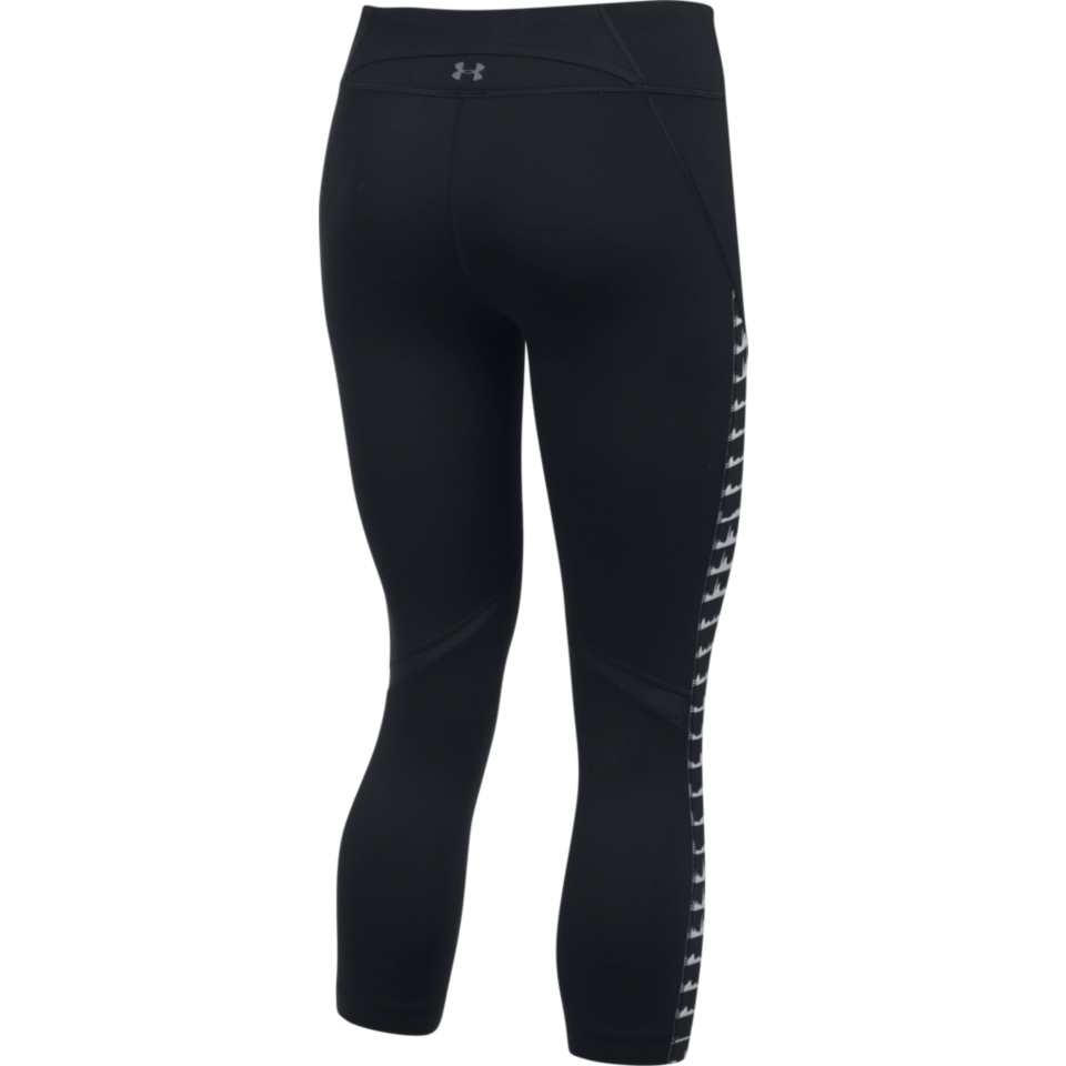 Under Armour Women's Mirror Printed Studio Crop Black