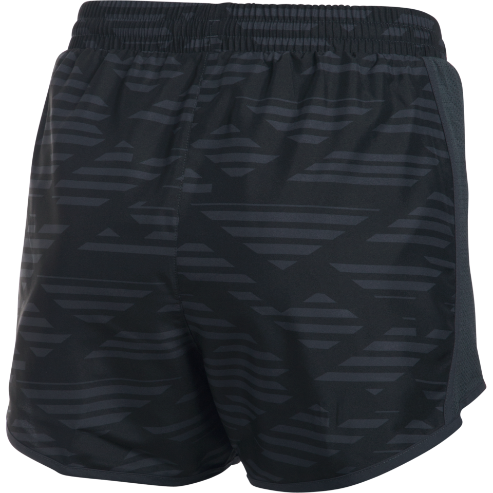 Under Armour Women's Fly By Printed Short Black