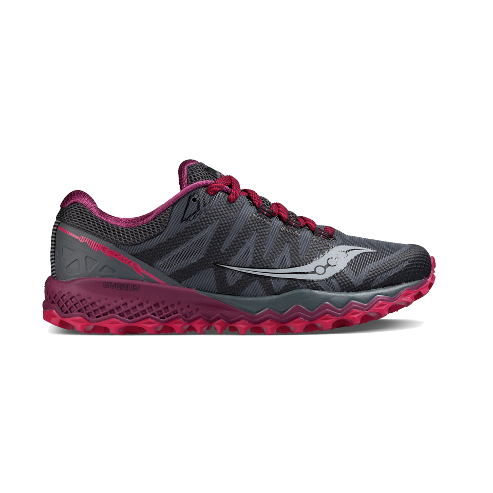 Saucony Women's Peregrine 7 Grey/Berry