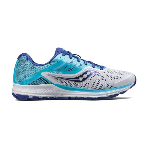 Saucony Women's Ride 10 White/Blue